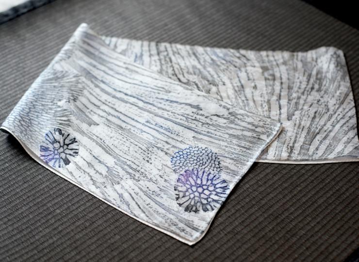 サンゴ染め スリムスカーフ(ブラック)