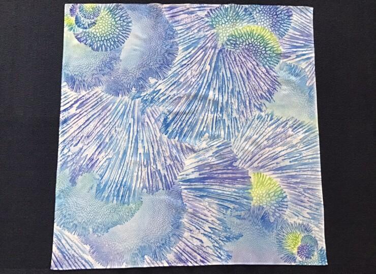 サンゴ染め 風呂敷(ブルー×グリーン)