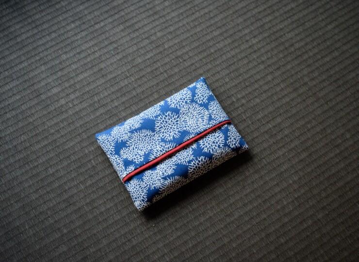 月サンゴ ポケットティッシュケース(ブルー)